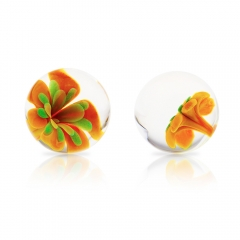 AN-G01-Orange Passion Me Glass Balls